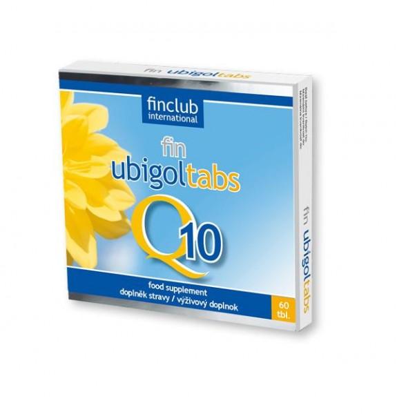fin Ubigoltabs - koenzym Q10 - obsahuje 30 mg čistého koenzymu Q10; 10 mg vitaminu E