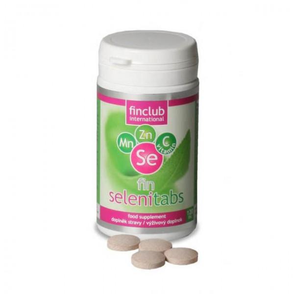 fin SELENITABS - organický selen, obohacen o zinek, mangan a vitamin C.