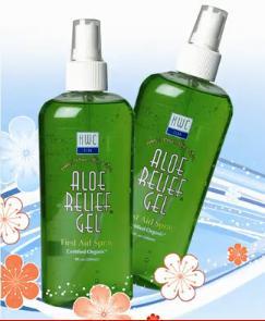 Aloe relief gel spray chladivý gel tišící bolest, obsahuje 100% Aloe Vera100% ALOE GEL