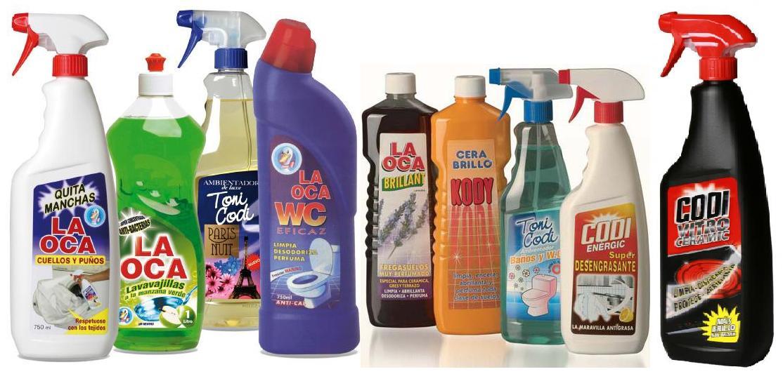 vynikající čistící prostředky Codina- codi energic, codi vitro, toni codi, la oca brillant