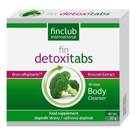 fin Detoxitabs - Aktivuje schopnost těla odstraňovat toxiny - patentovaný brokolicový extrakt BroccoRaphanin™