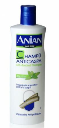 Šampon proti lupům s mentolem- Anian /400ml/