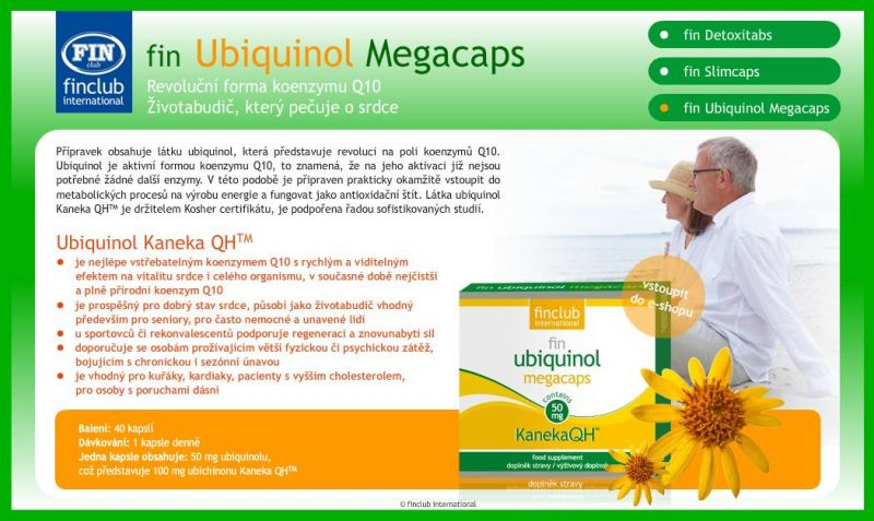Revoluční koenzym Q10 fin Ubiquinol Megacaps