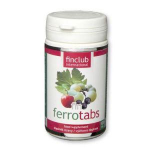 fin Ferrotabs - obsahuje železo, zinek, měď a vitamín C.