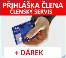 Členský servis registrace - přihláška člena + SLEVOVÝ KUPON NA DALŠÍ NÁKUP