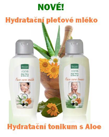 Hydratační pleťové mléko s olivovým olejem a 100% Aloe Vera gelem