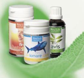 Přírodní doplňky stravy, výživy - zdraví z přírody, Finclub